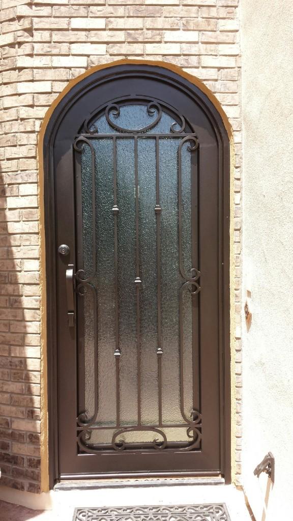 After we repainted the security door.